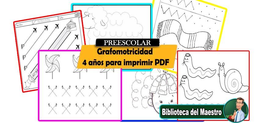 Grafomotricidad 4 años para imprimir PDF – Biblioteca del Maestro