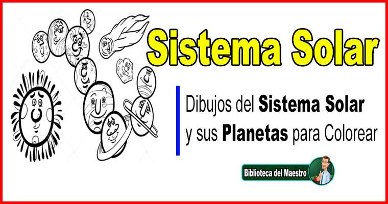 Dibujos del Sistema Solar y sus Planetas para Colorear – Biblioteca ...