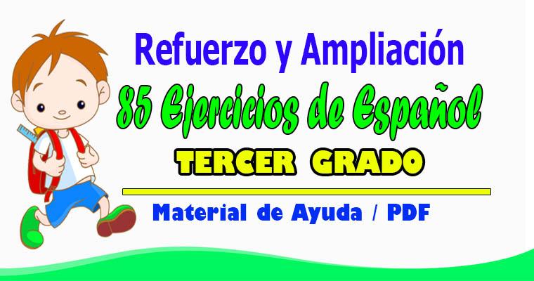 Refuerzo Y Ampliación 85 Ejercicios De Español Para 3er Grado Biblioteca Del Maestro