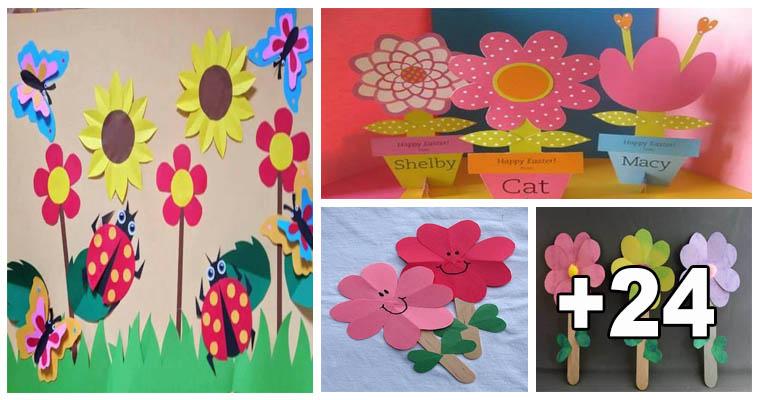 24 Manualidades De Flores De Papel Paso A Paso Biblioteca Del Maestro