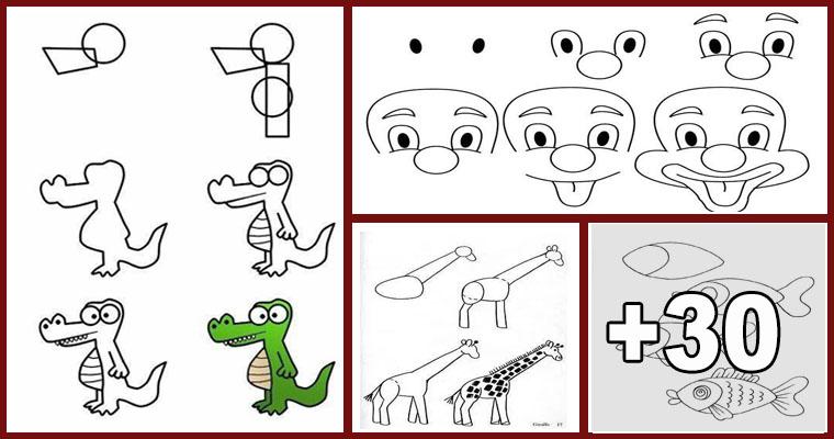 Como Dibujar Un Cuaderno Para Navidad Paso A Paso Dibujos: Dibujos Fáciles Paso A Paso Para Niños