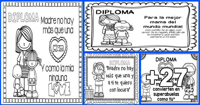 diplomas de reconocimiento para las madres editar e imprimir
