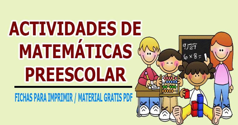 Actividades De Matematicas Para Preescolar Biblioteca Del Maestro